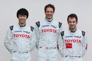 Toyota Alex Wurz, Nicolas Lapierre und Kazuki Nakajima