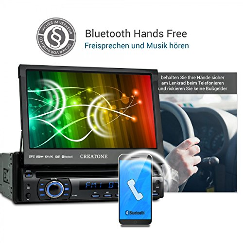 1din autoradio creatone ctn 8422d26 mit gps navigation. Black Bedroom Furniture Sets. Home Design Ideas