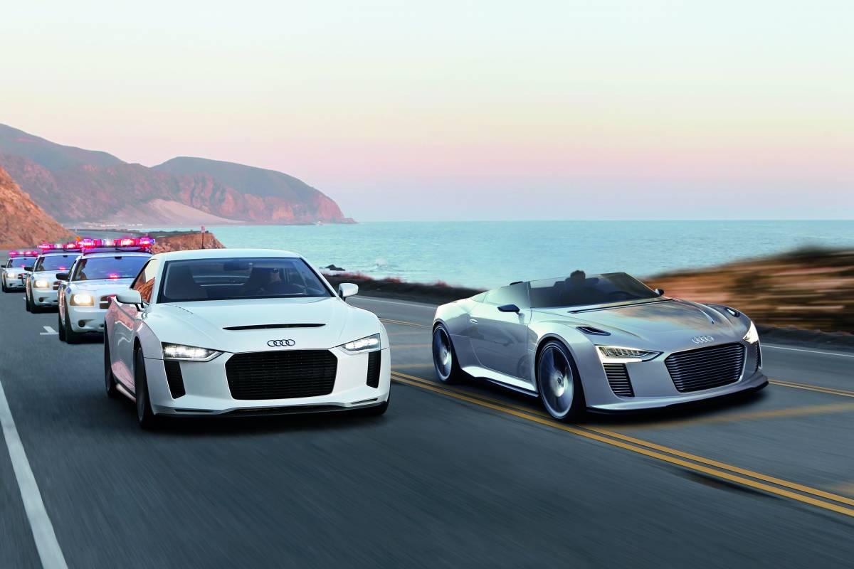 Audi quattro concept und Audi e-tron Spyder