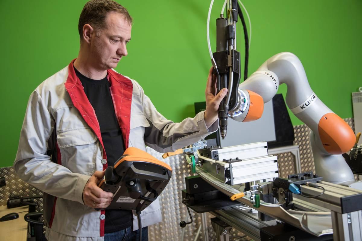 MRK-Roboter im Karobau A3
