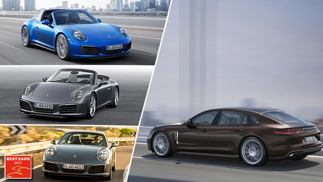 Best Cars 2017: 911 Targa 4S, 911 Carrera Cabriolet, 911 Carrera, Panamera 4 Executive, Porsche AG