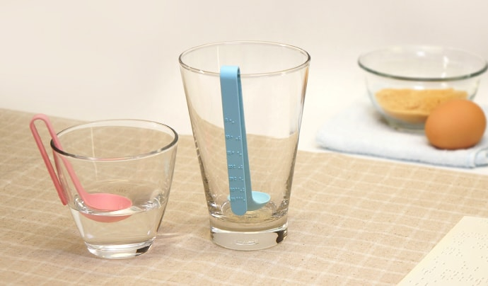 BUOYANT MEASURING SPOON FOR THE BLIND