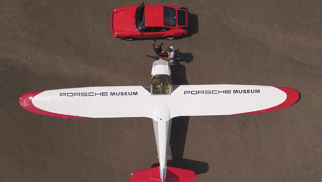 Pützer Elster B, Flugzeug, Flugplatz in Heubach, Deutschland, 2016, Porsche AG