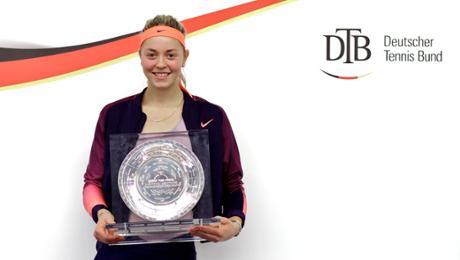 Carina Witthöft ist Deutsche Tennismeisterin