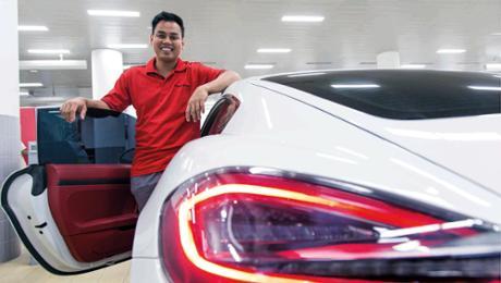 Mit Porsche von Manila nach Dubai
