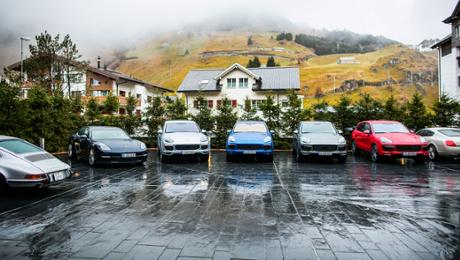 Auf Alpentour mit Porsche