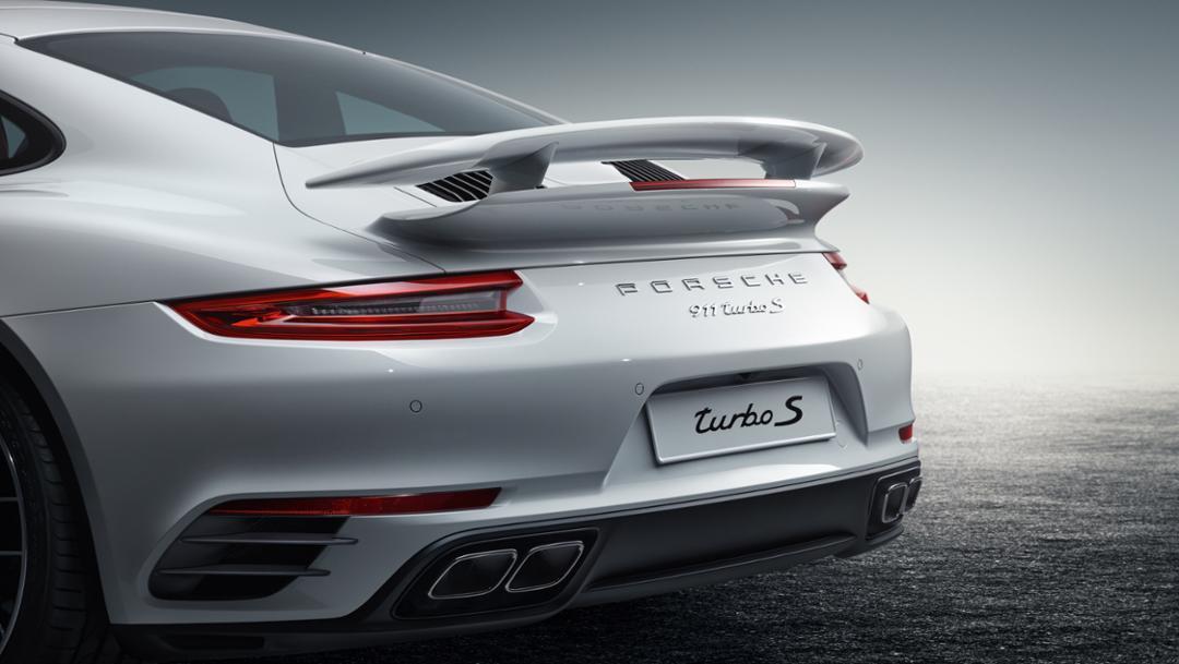 911 Turbo S, Heckspoiler, 2017, Porsche AG
