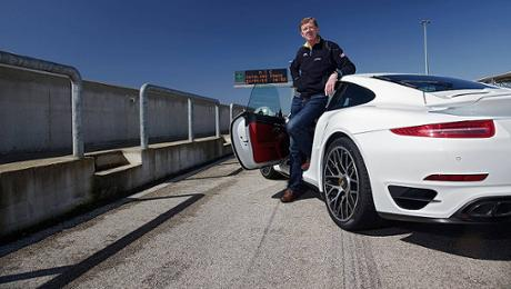 Mit dem 911 Turbo S in Nardò
