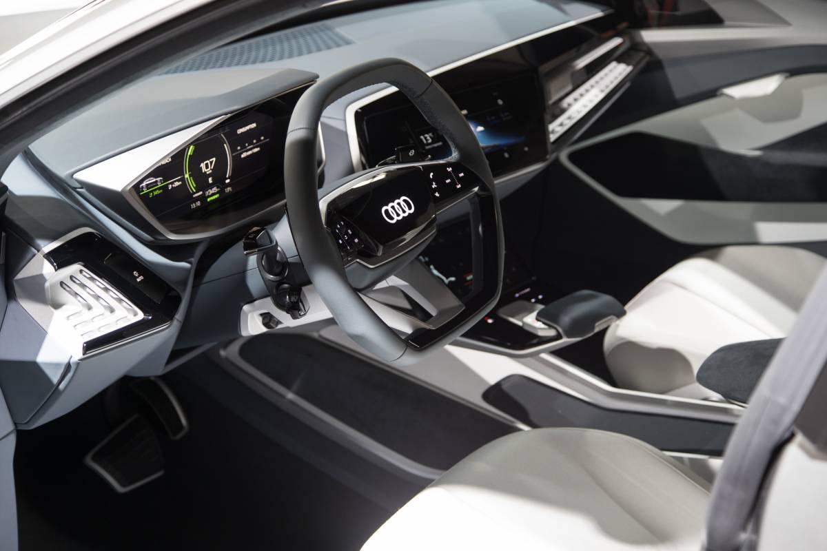Das Interieur des Audi e-tron Sportback concept