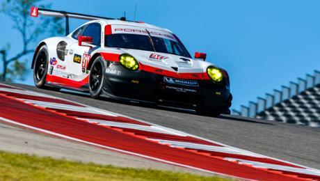 Porsche will mit dem 911 RSR in Texas aufs Podium