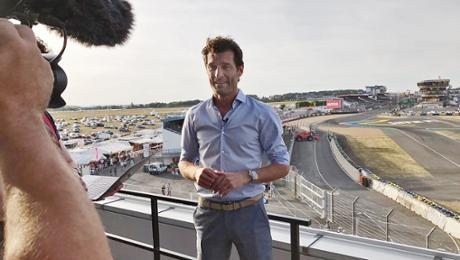 Mit Mark Webber in Le Mans