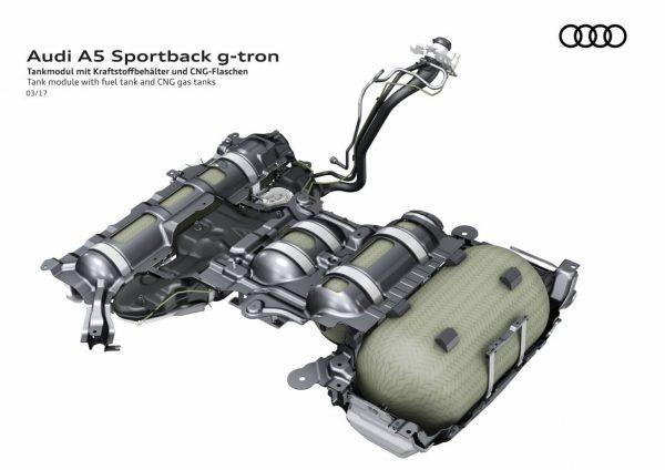 Skizze des CNG Tanks.