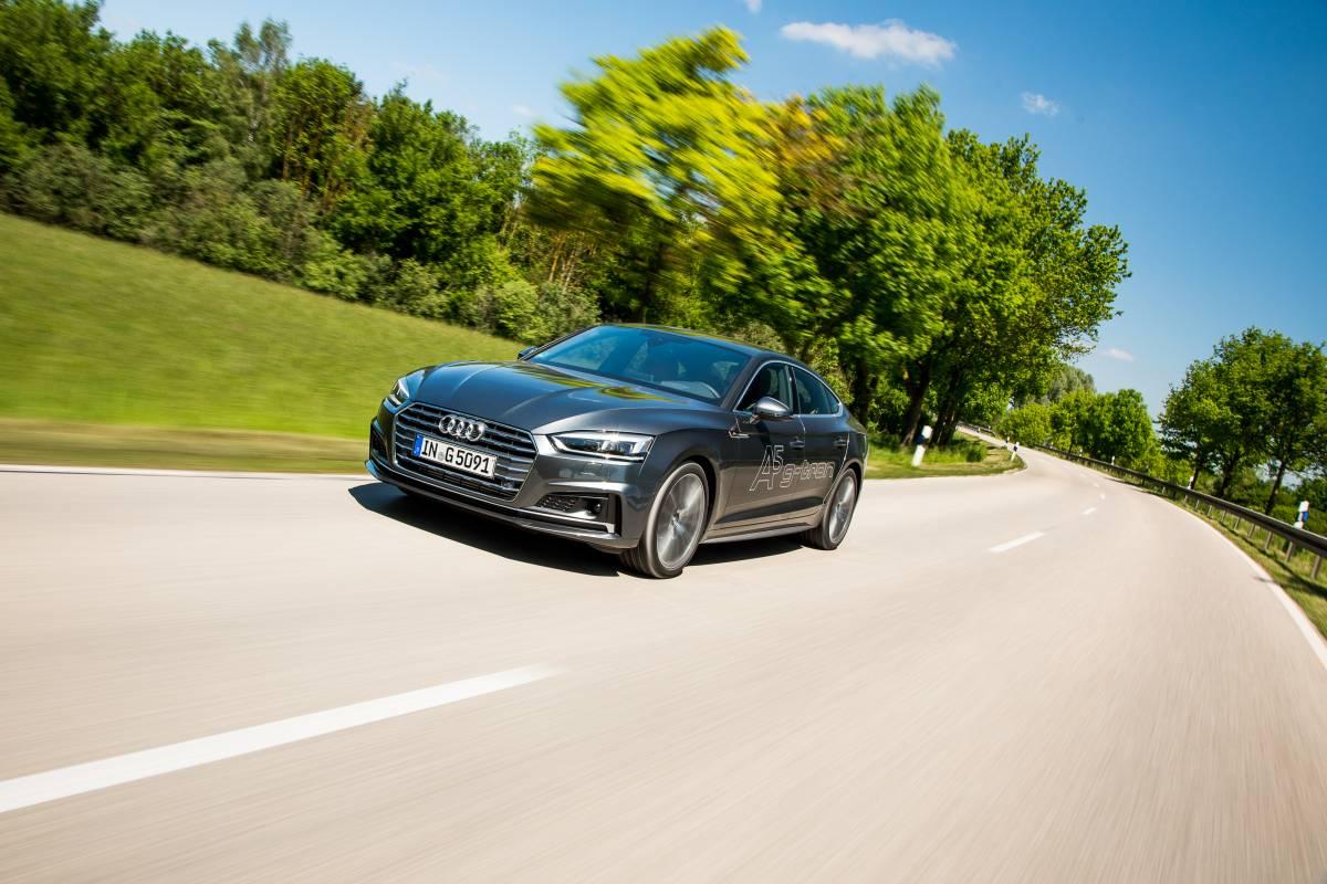 Fahrszene: Audi A5 Sportback g-tron.