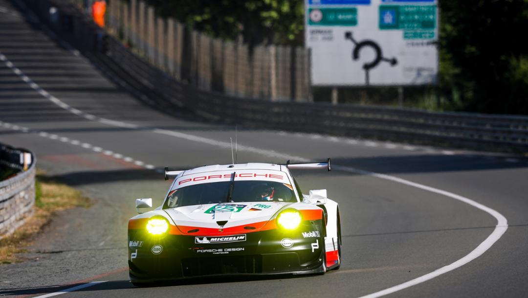 911 RSR, Testtag, Le Mans, 2017, Porsche AG