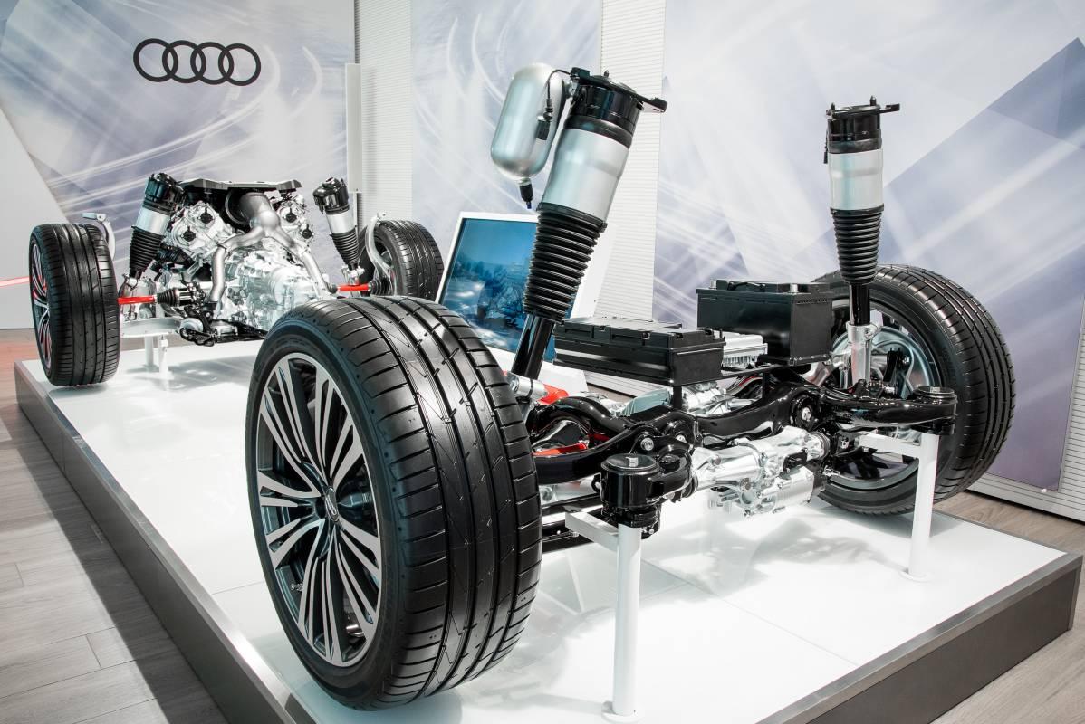 Exponat mit der Fahrzeugantriebsarchitektur