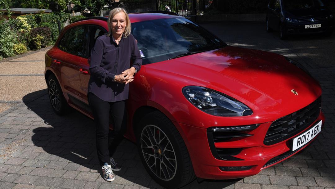 Martina Navratilova, Macan GTS, 2017, Porsche AG