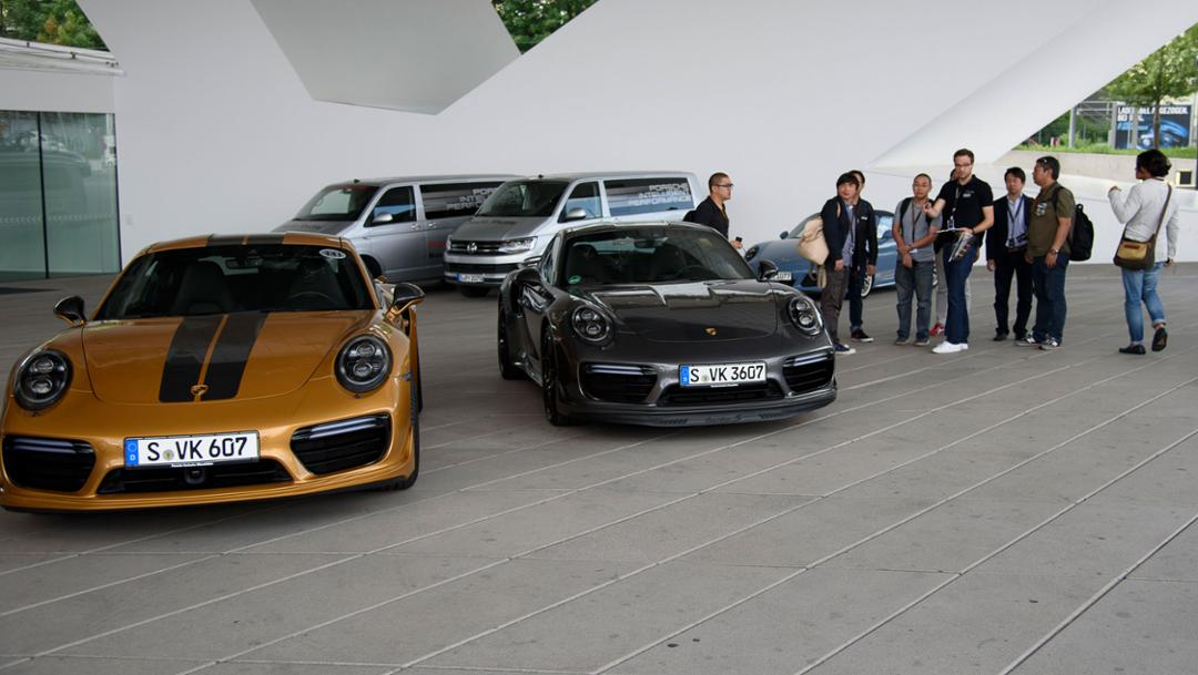 911 Turbo S Exclusive Series, Presse-Workshop, Stuttgart, 2017, Porsche AG