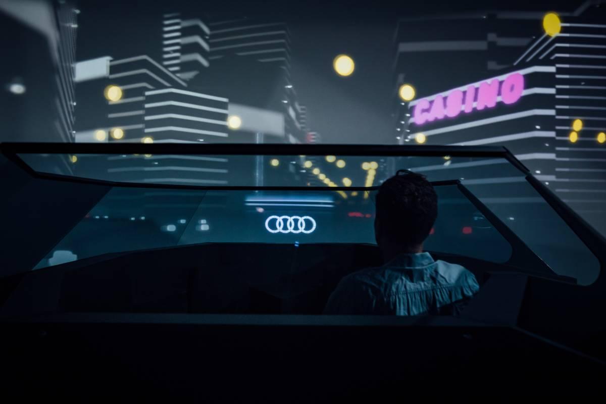 Die Zukunfts-Kapsel von Audi - hier lässt sich die 25. Stunde üben.