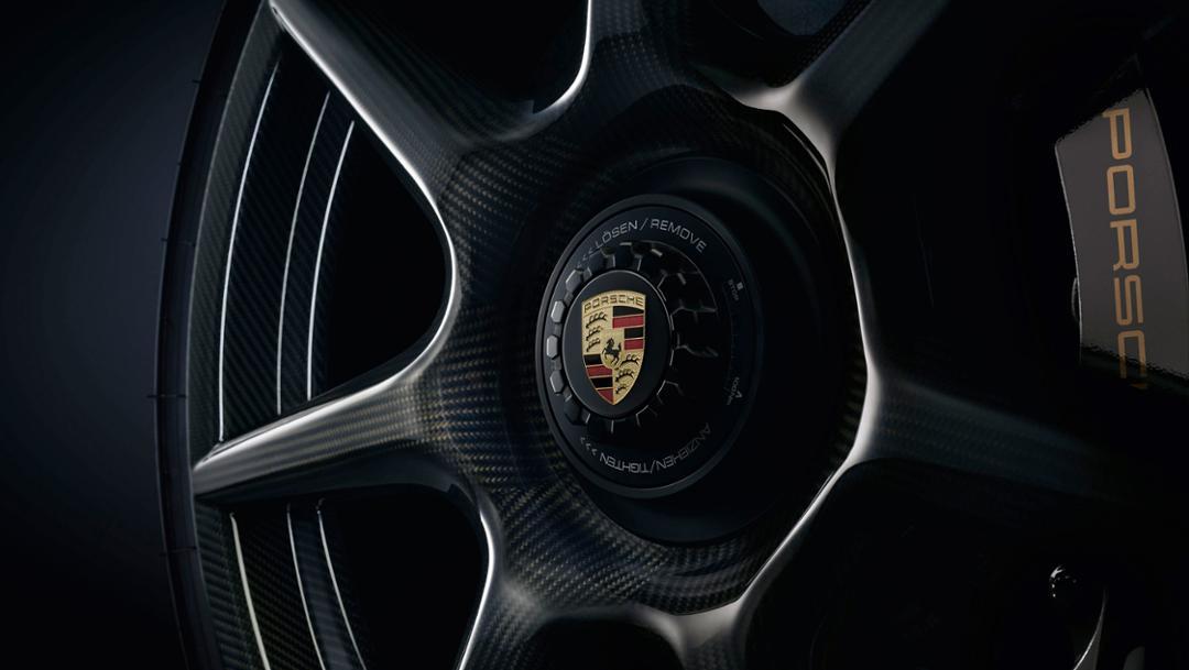 Porsche 20-Zoll 911 Turbo Carbon-Rad für die 911 Turbo S Exclusive Series, 2017, Porsche AG