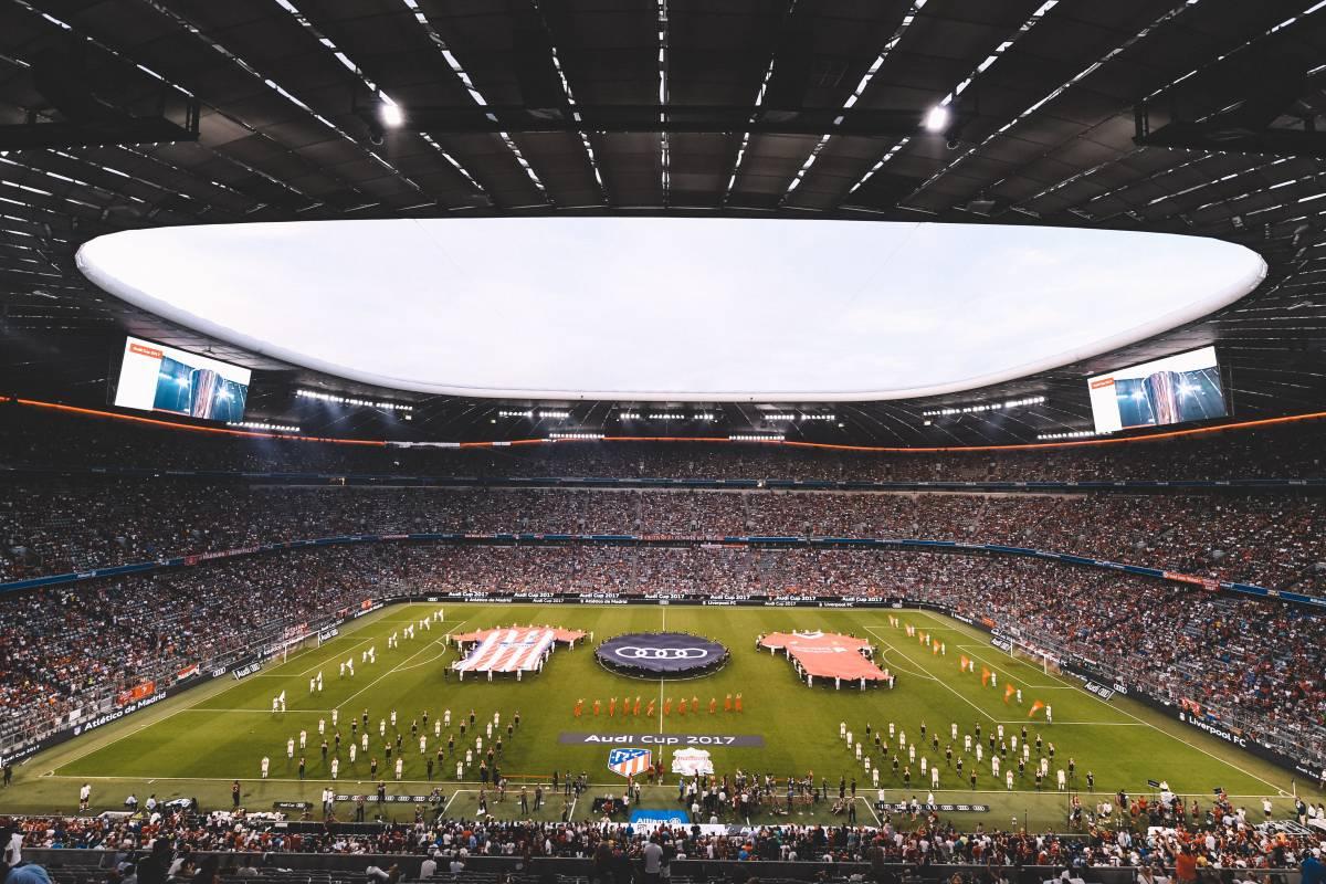 Die Allianz Arena beim Audi Cup.