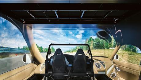 Virtueller Fahrerplatz