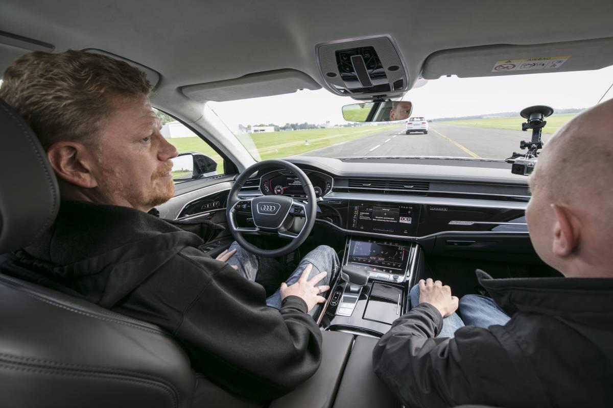 Audi AI Staupilot in Anwendung.