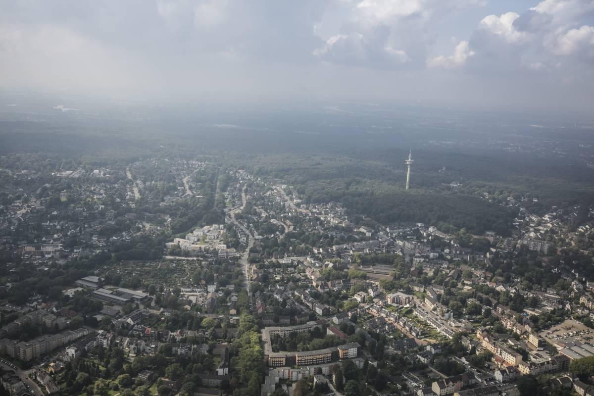 Düsseldorf aus der Luft.