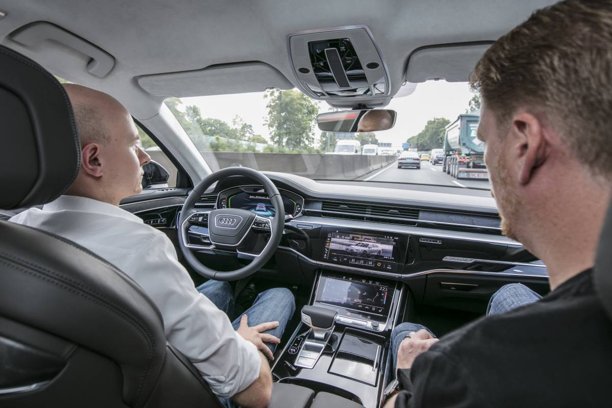 Audi AI im Stau