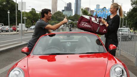 Webber und Sharapova auf heißer Fahrt