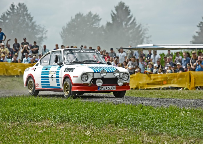 Matthias Kahle im Publikumsliebling SKODA 130 RS bei der Rallye Deutschland