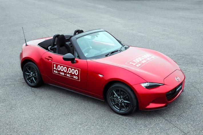 Millionster Mazda MX-5 vom Band gelaufen