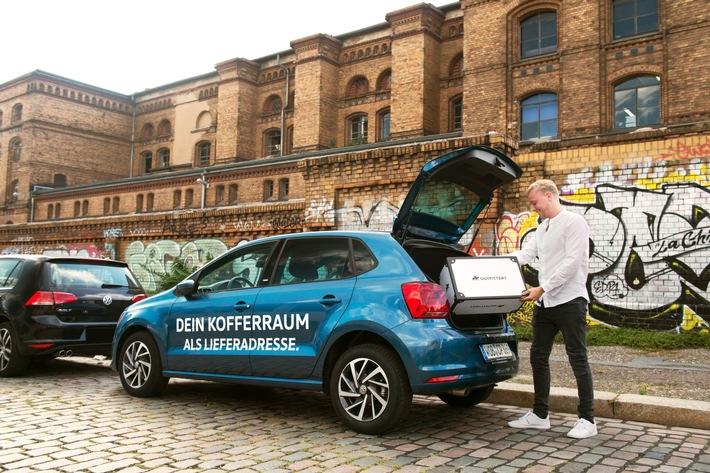 OUTFITTERY testet Kofferraumzustellung mit Volkswagen und DHL